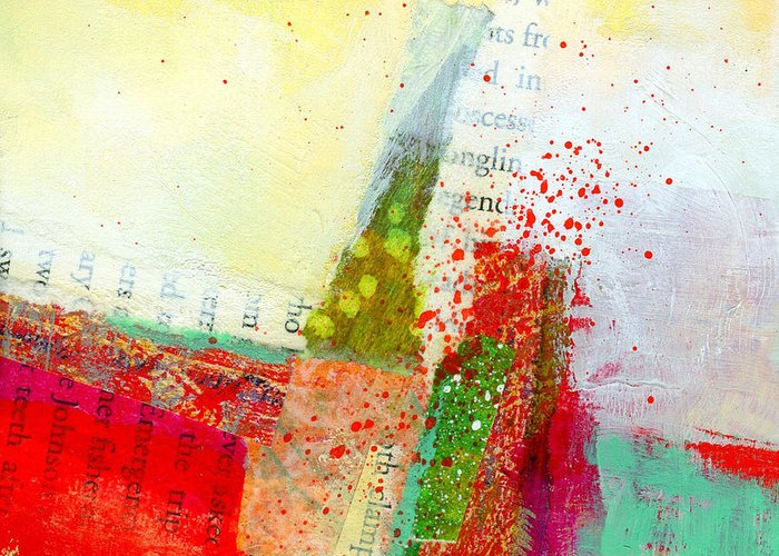 4x4 Greeting Card featuring the painting Edge 57 by Jane Davies