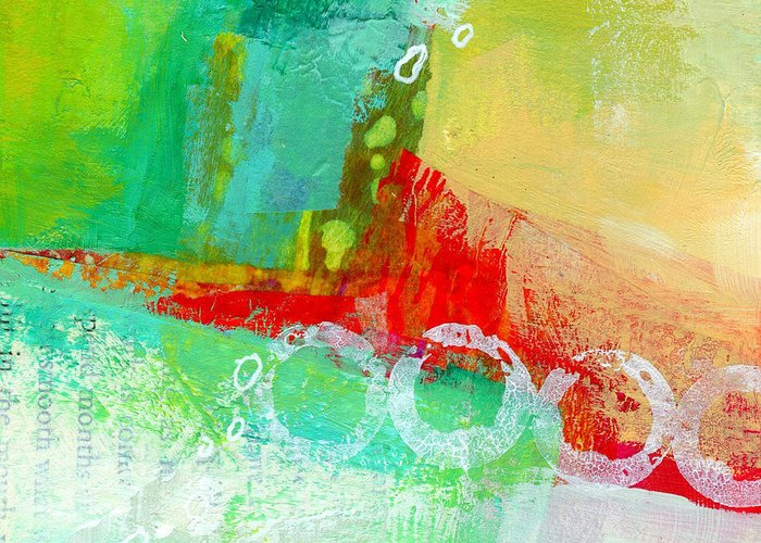 4x4 Greeting Card featuring the painting Edge 59 by Jane Davies