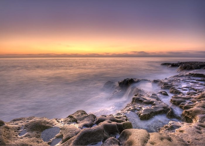 California At Sunset Greeting Card featuring the photograph Edge Of The World by Anthony Citro