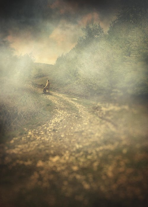 Surreal Greeting Card featuring the photograph Edge Of The World by Taylan Apukovska