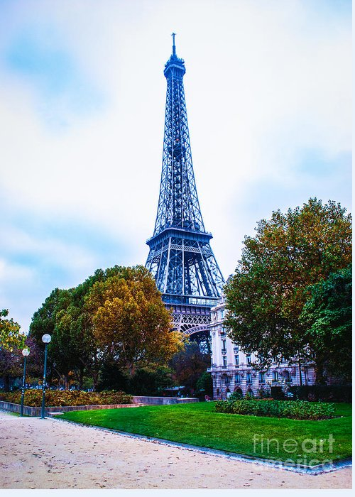 Paris Greeting Card featuring the photograph Eiffel In Autumn by Remi D Photography