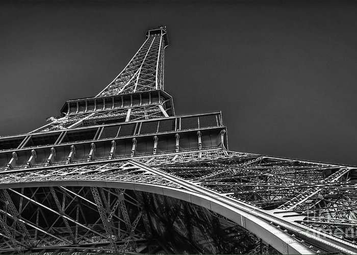Paris Greeting Card featuring the photograph Eiffel In Black And White by Remi D Photography