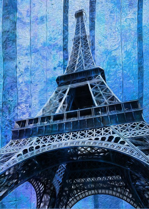 Eiffel Greeting Card featuring the painting Eiffel Tower 2 by Jack Zulli