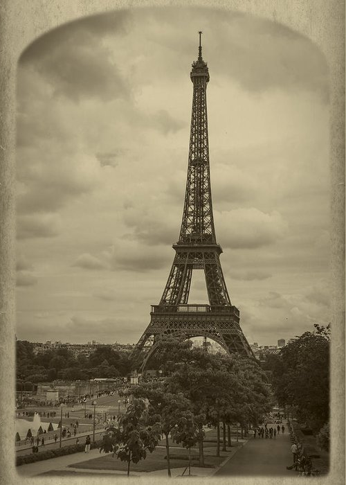 Champs Greeting Card featuring the photograph Eiffel Tower by Debra and Dave Vanderlaan