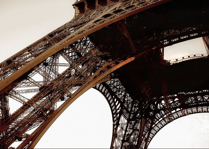Paris Greeting Card featuring the photograph Eiffel Tower Left Leg by Remi D Photography