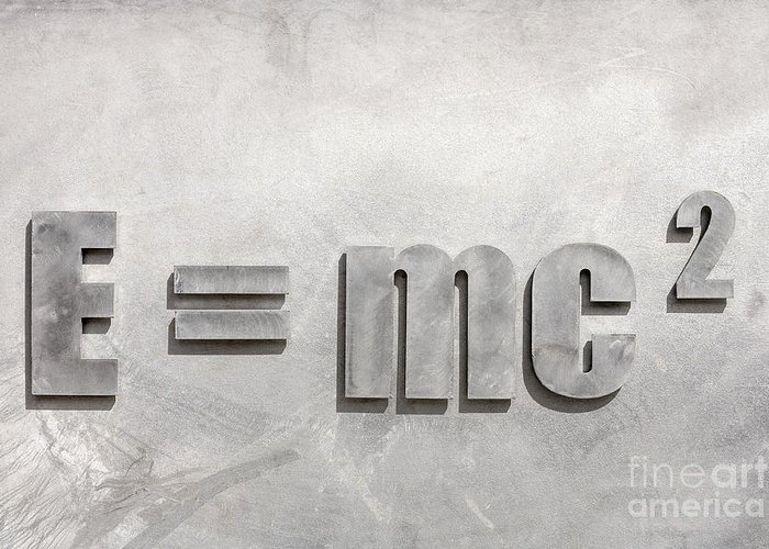 E=mc2 Greeting Card featuring the photograph Einstein Sculpture Emc2 Canberra Australia by Colin and Linda McKie