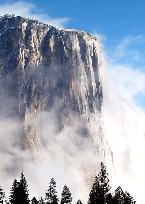 Yosemite Greeting Card featuring the photograph El Capitan by Bill Gallagher
