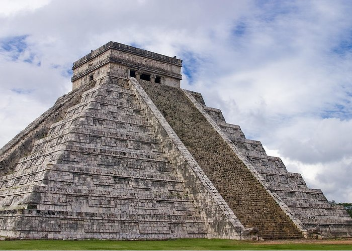 3scape Photos Greeting Card featuring the photograph El Castillo by Adam Romanowicz