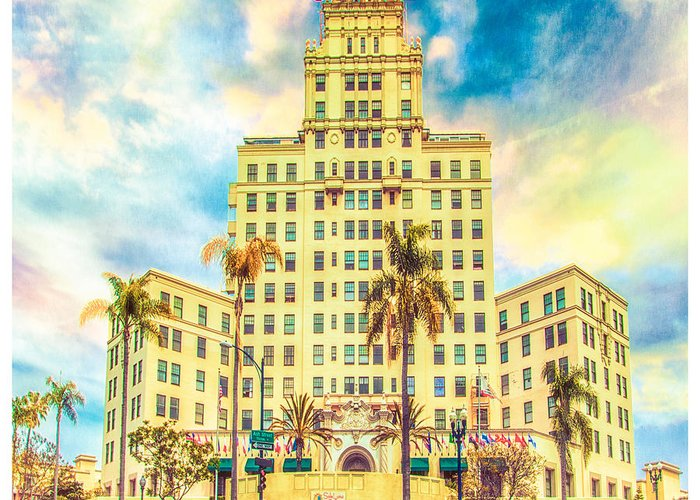 Hotel Greeting Card featuring the photograph El Cortez by Chris Lord