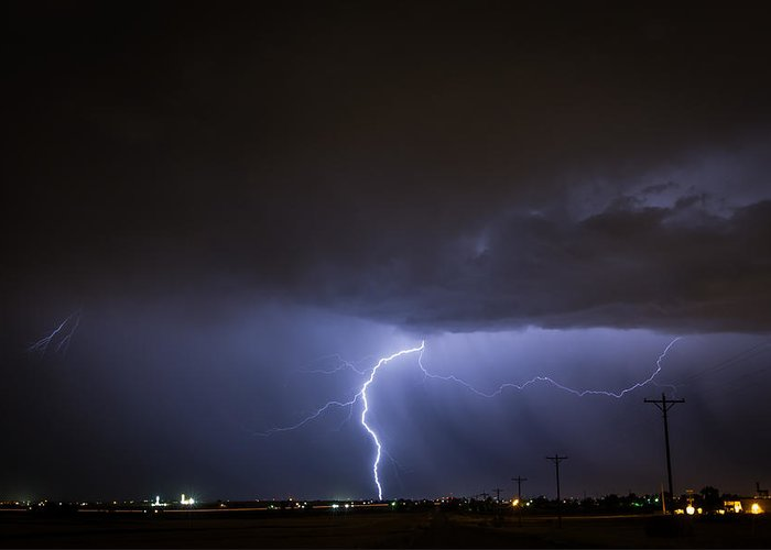 Lightning Greeting Card featuring the photograph Electric Summer by Greg Moore