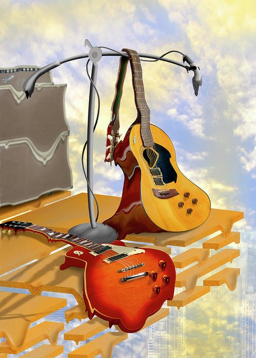 Microphone Stand Greeting Cards