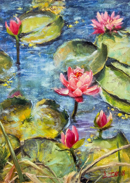 Beautiful Greeting Card featuring the painting Elegance by Bill Inman