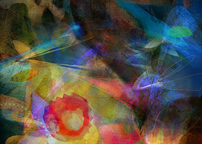 Digital Greeting Card featuring the digital art Elements II - Emergence by Bryan Dechter