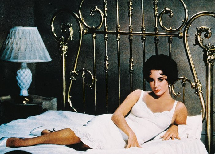 Cat On A Hot Tin Roof Greeting Card featuring the photograph Elizabeth Taylor In Cat On A Hot Tin Roof by Silver Screen