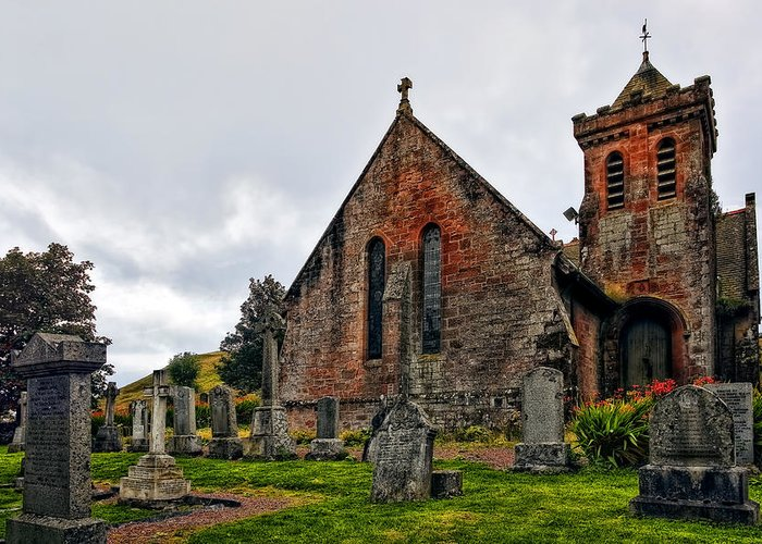 Landscape Greeting Card featuring the photograph Elvanfoot Parish Church by Marcia Colelli