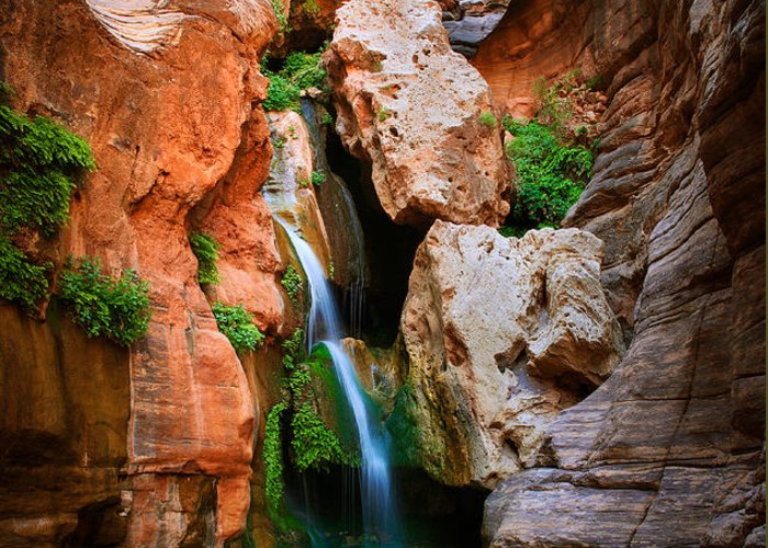 America Greeting Card featuring the photograph Elves Chasm by Inge Johnsson