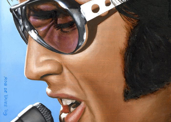 Elvis Greeting Card featuring the painting Elvis 24 1970 by Rob De Vries