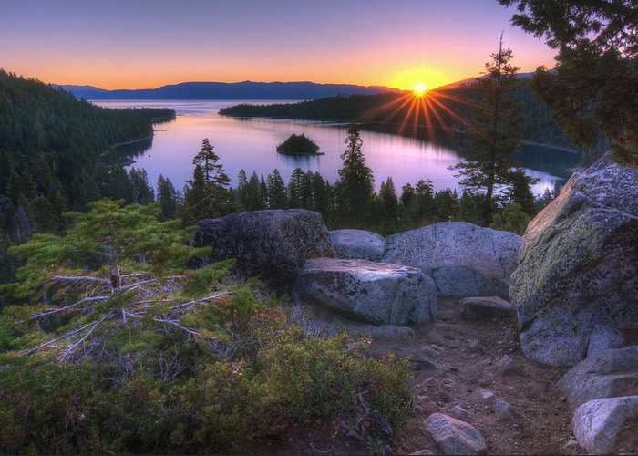 Greeting Card featuring the photograph Emerald Bay by Sean Foster
