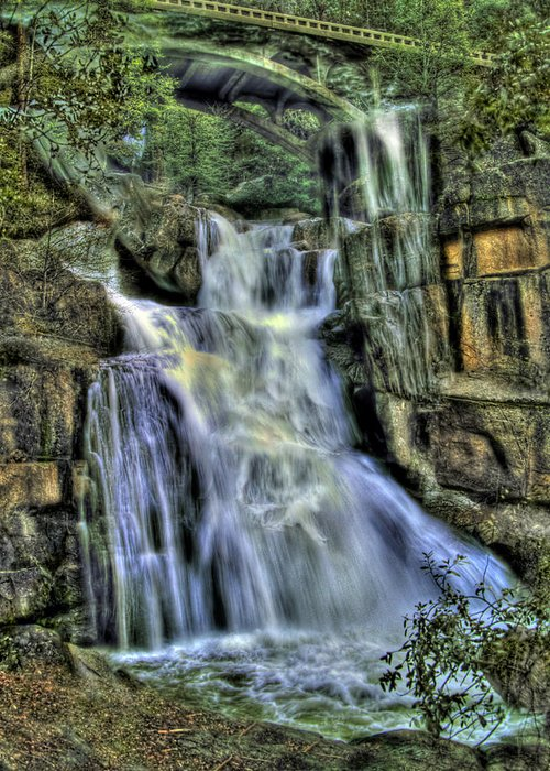 Cascade Creek Greeting Card featuring the photograph Emerald Cascade by Bill Gallagher