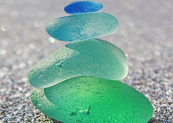 Seaglass Greeting Card featuring the photograph Emerald Light by Barbara McMahon