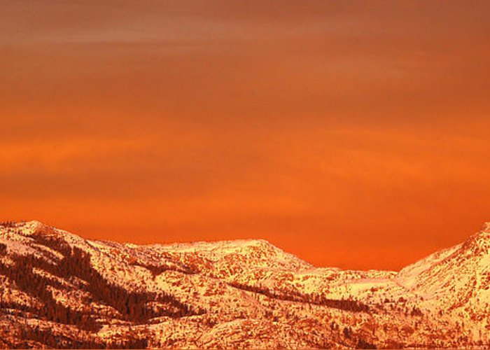 Donner Pass Greeting Card featuring the photograph Emigrant Gap by Bill Gallagher