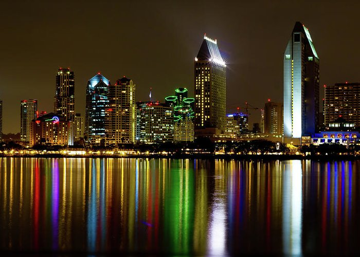 San Diego Greeting Card featuring the photograph Eminent Echoes Of San Diego by Ryan Weddle