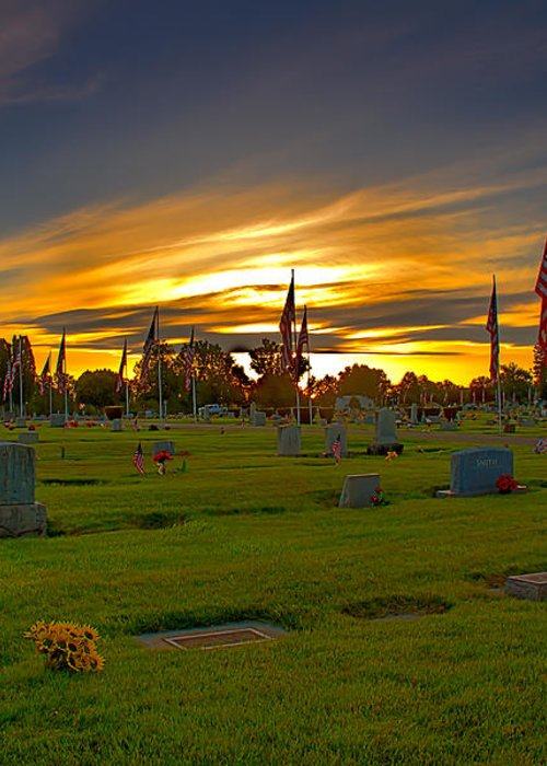 Gem County Greeting Card featuring the photograph Emmett Cemetery by Robert Bales