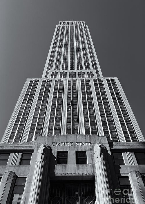 Clarence Holmes Greeting Card featuring the photograph Empire State Building Rising II by Clarence Holmes