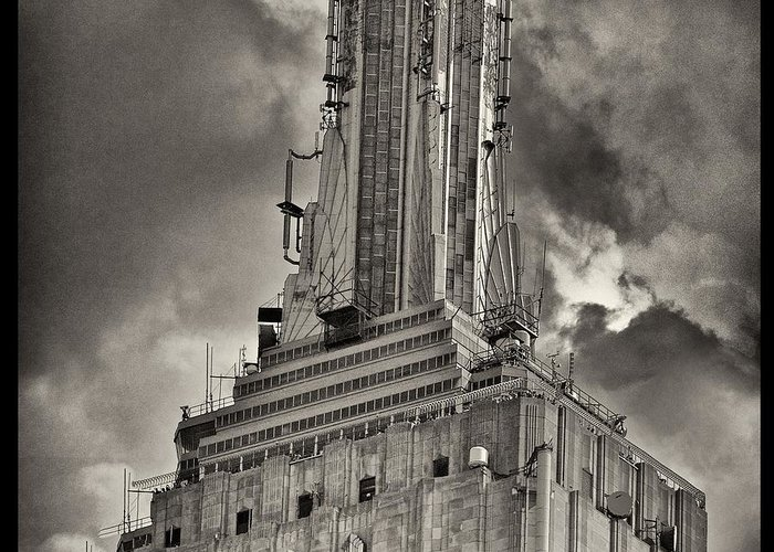 Empire State Building Greeting Card featuring the photograph Empire State Building by Scott Radke