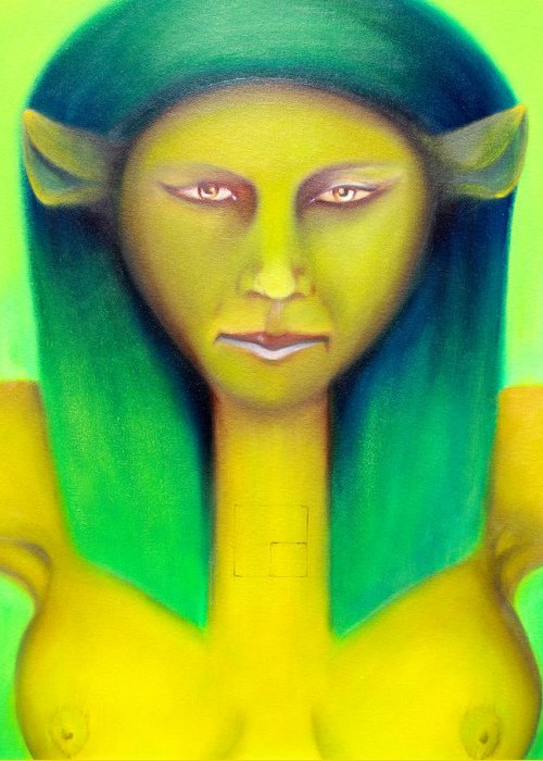 Major Arcana Greeting Card featuring the painting Empress by Roger Williamson