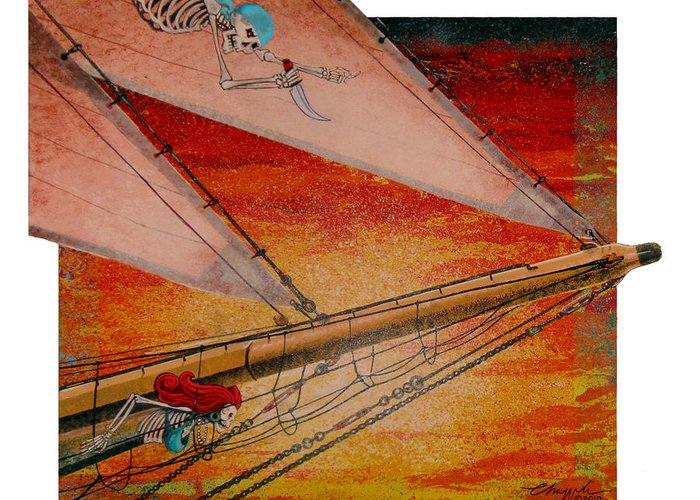 Pirates Greeting Card featuring the painting Empty Dreams by David Chapple