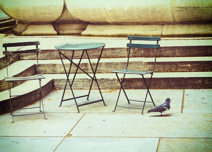 Nyc Greeting Card featuring the photograph Empty by Karol Livote