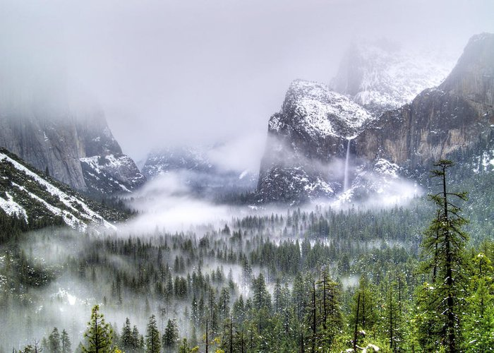Yosemite Greeting Card featuring the photograph Enchanted Valley by Bill Gallagher
