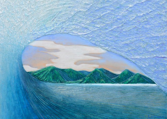 Surfing Greeting Card featuring the painting End Of The Road by Nathan Ledyard
