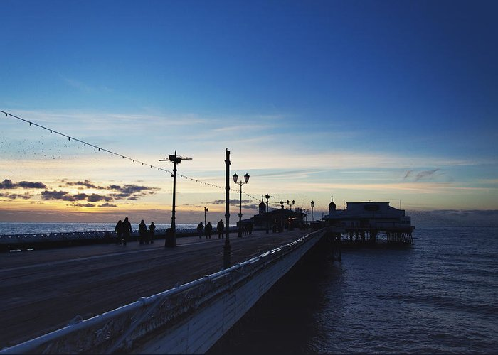 Pier Greeting Card featuring the photograph End Of The Season by Nick Barkworth