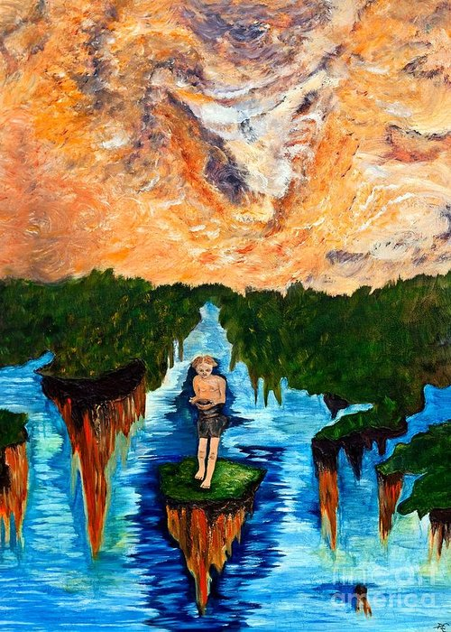 End Of Times Greeting Card featuring the painting End Of Times by Angela Loya
