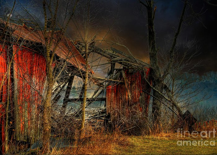 Dystopia Greeting Card featuring the photograph End Times by Lois Bryan