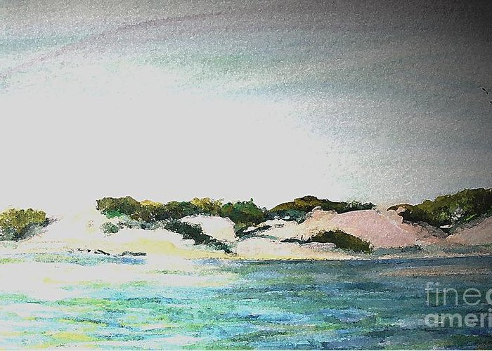 Fog Greeting Card featuring the painting Endless Fog In Provincetown by Rita Brown