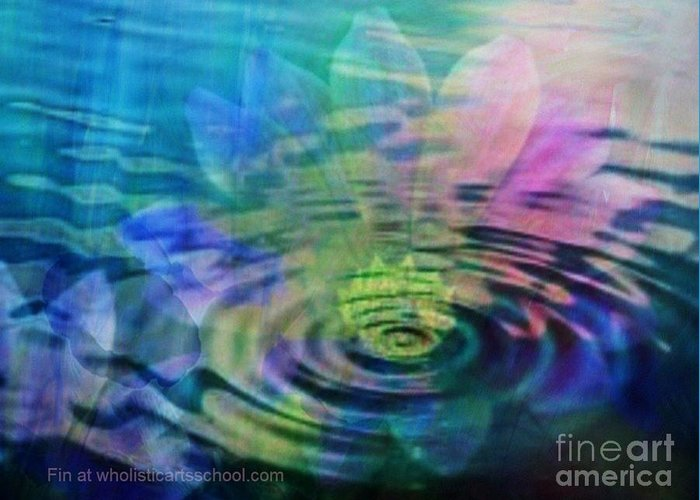 Ripple Greeting Card featuring the painting Energy Ripples by PainterArtist FIN