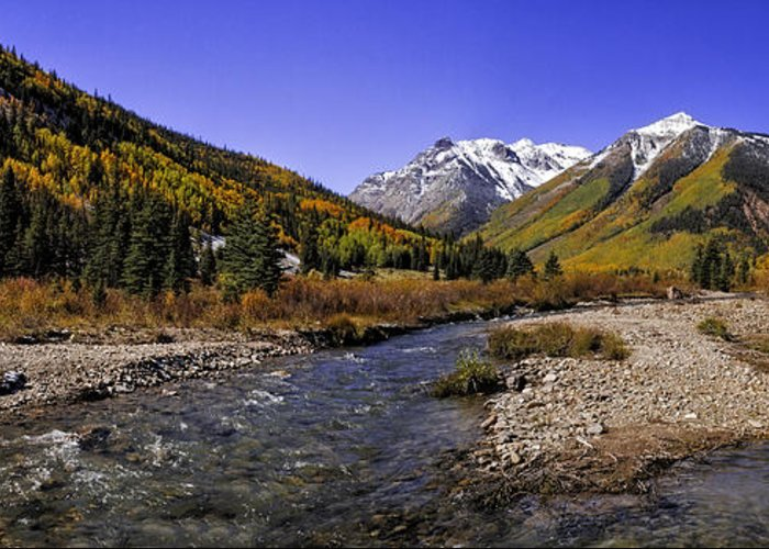 Aspen Trees Greeting Card featuring the photograph Engineer Pass Panorama by Teri Virbickis