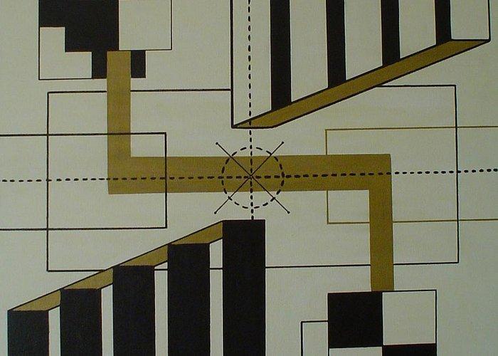 Engineering Greeting Card featuring the painting Engineering Target by Valerio Varela