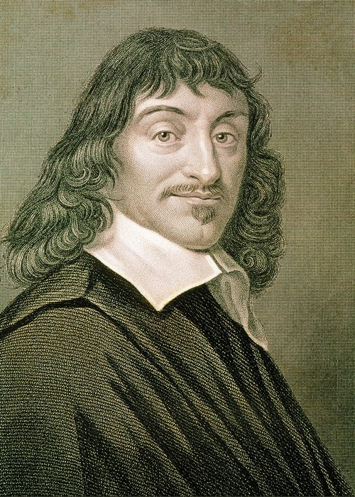 Descartes Greeting Card featuring the photograph Engraving Of French Mathematician Rene Descartes by Sheila Terry/science Photo Library