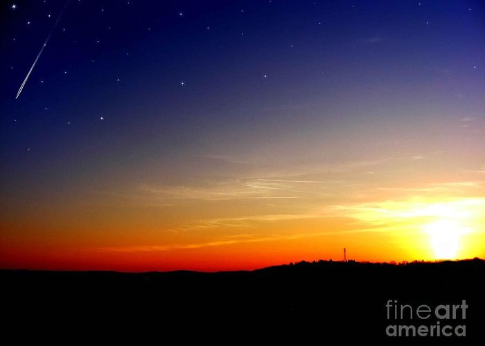 Sunset Greeting Card featuring the photograph Enhanced Sunset by Jayson Banner
