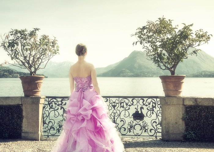 Woman Greeting Card featuring the photograph enjoying Italy by Joana Kruse