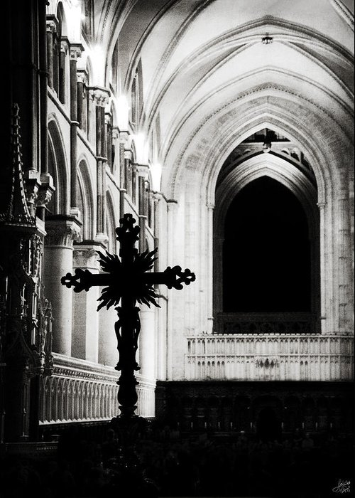 Canterbury Greeting Card featuring the photograph Enlightenment by Lisa Knechtel