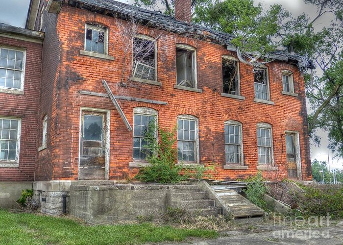 Mj Olsen Greeting Card featuring the photograph Enlisted Men's Family Quarters by MJ Olsen