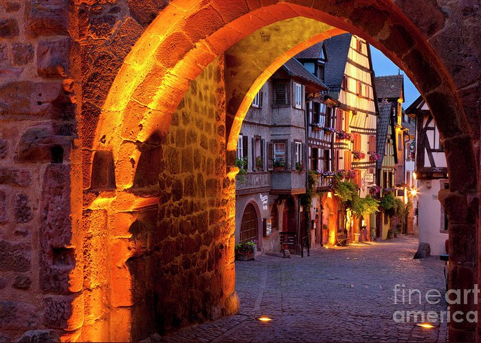 Riquewihr Greeting Card featuring the photograph Entry To Riquewihr by Brian Jannsen