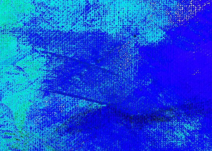 Abstract Greeting Card featuring the painting Envision Midnight Blue by L J Smith