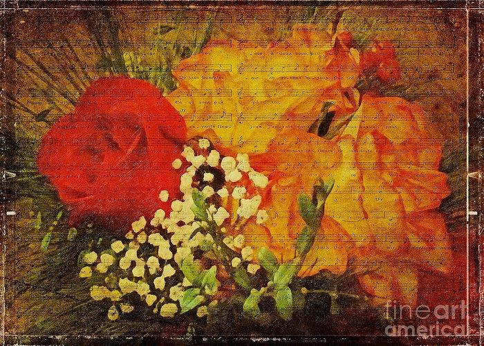 Flower Greeting Card featuring the digital art Envoi De Fleurs by Lianne Schneider