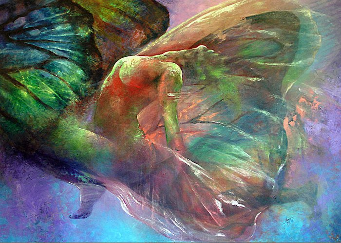 Butterfly Greeting Card featuring the painting Ephemeral Life by Karina Llergo